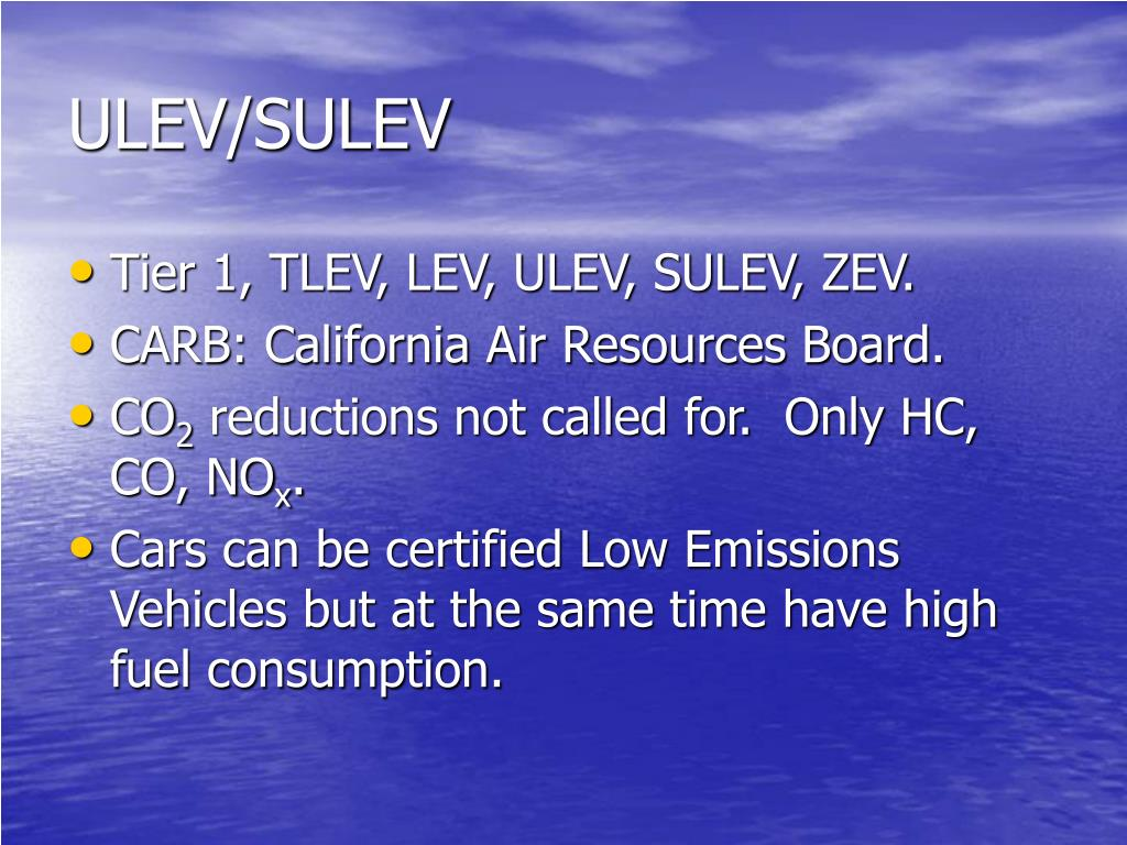 ULEV/SULEV