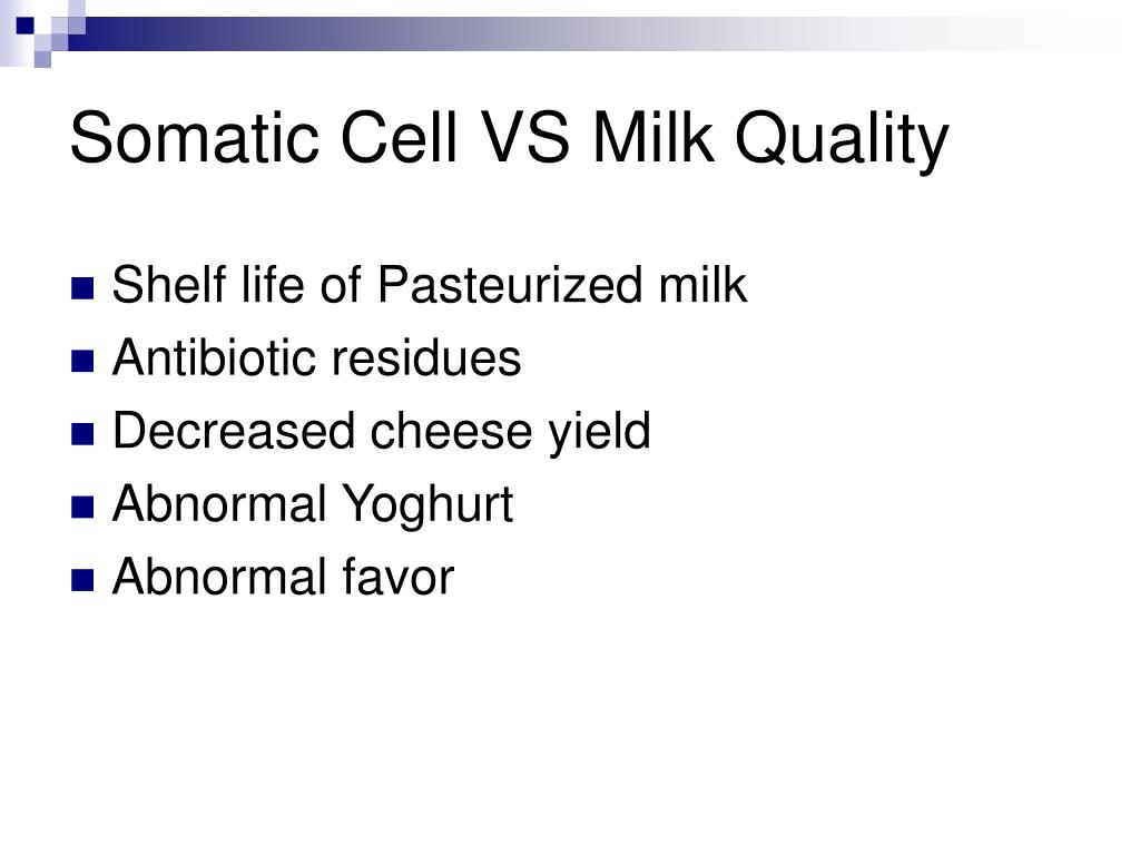 Somatic cell in milk