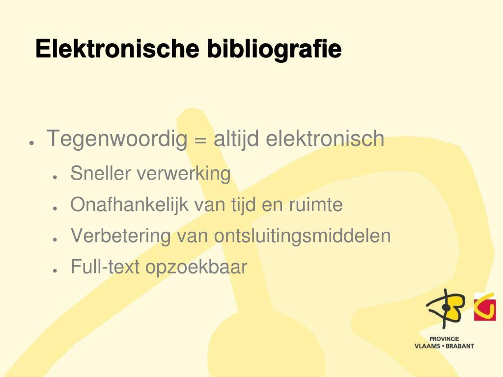 Elektronische bibliografie
