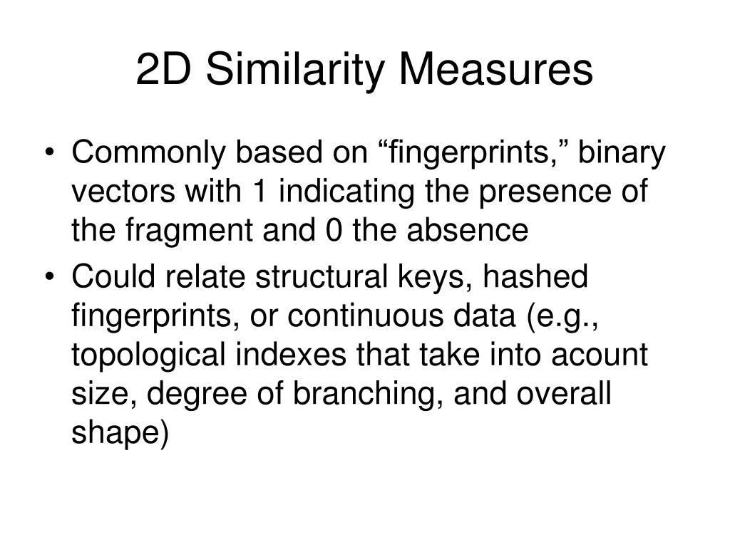 2D Similarity Measures