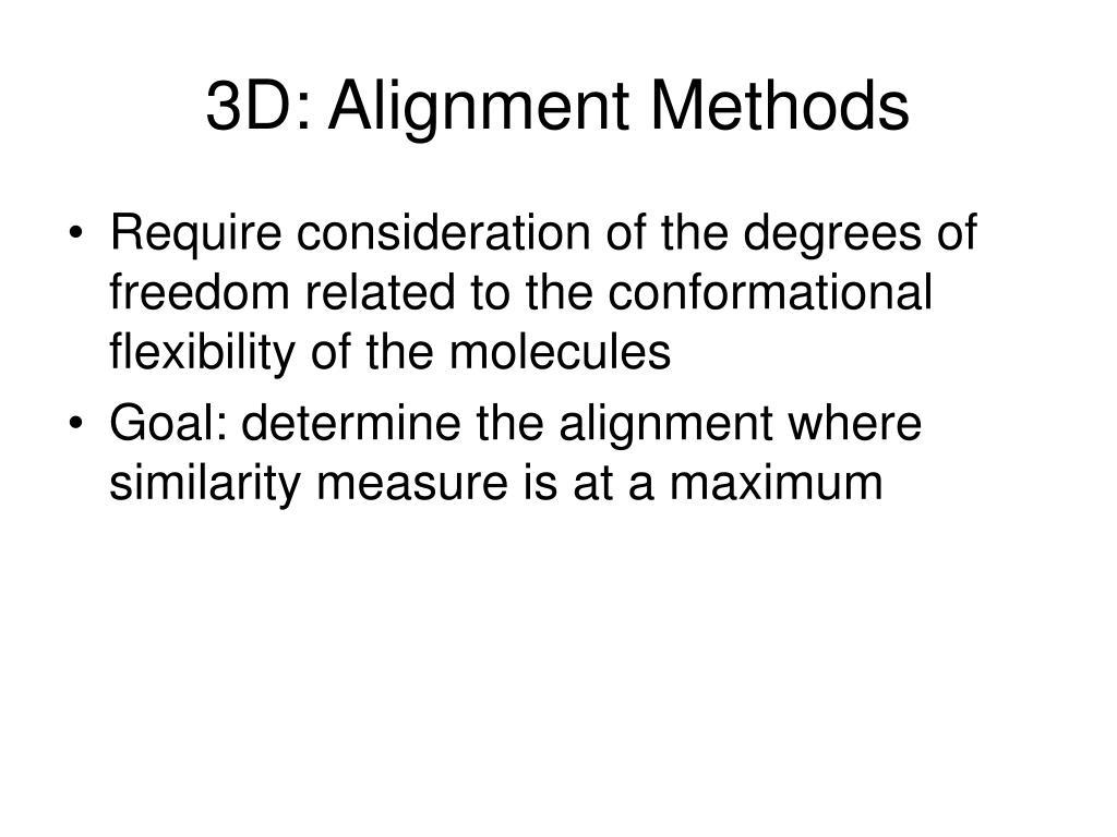 3D: Alignment Methods