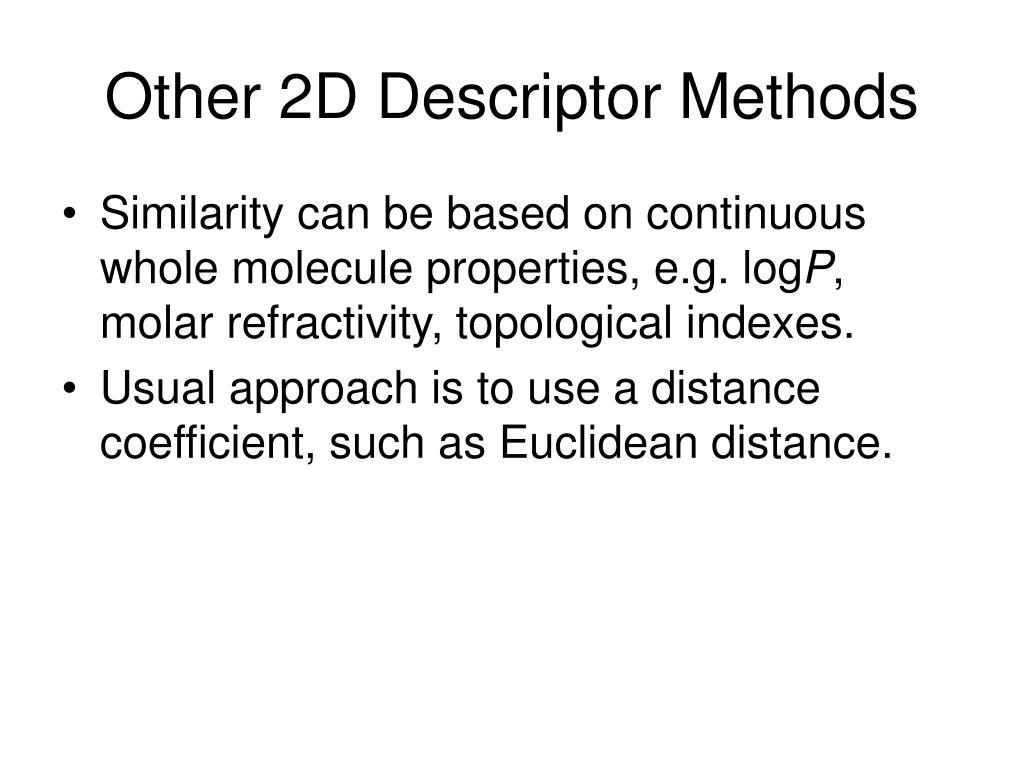 Other 2D Descriptor Methods