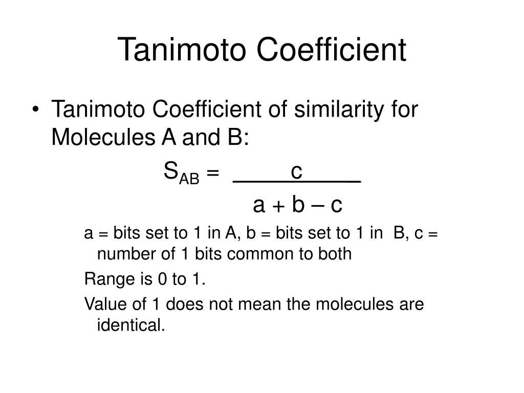 Tanimoto Coefficient