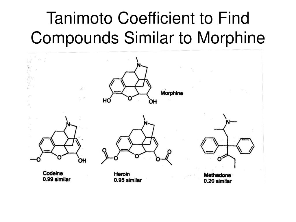 Tanimoto Coefficient to Find Compounds Similar to Morphine