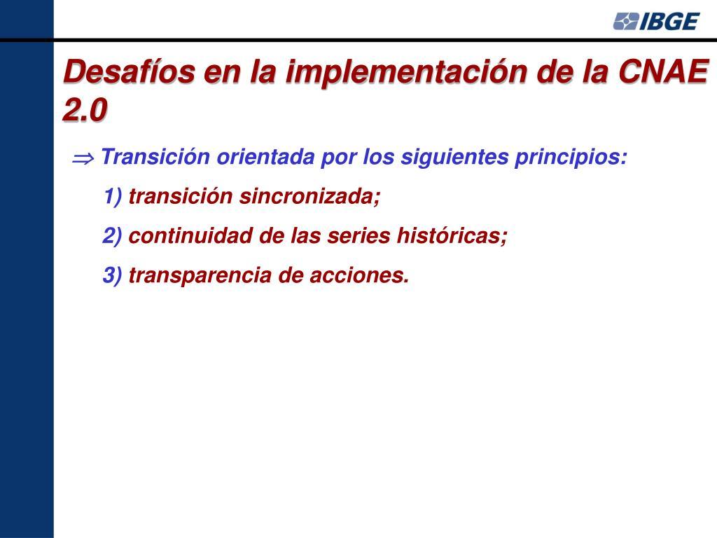 Desafíos en la implementación de la CNAE 2.0