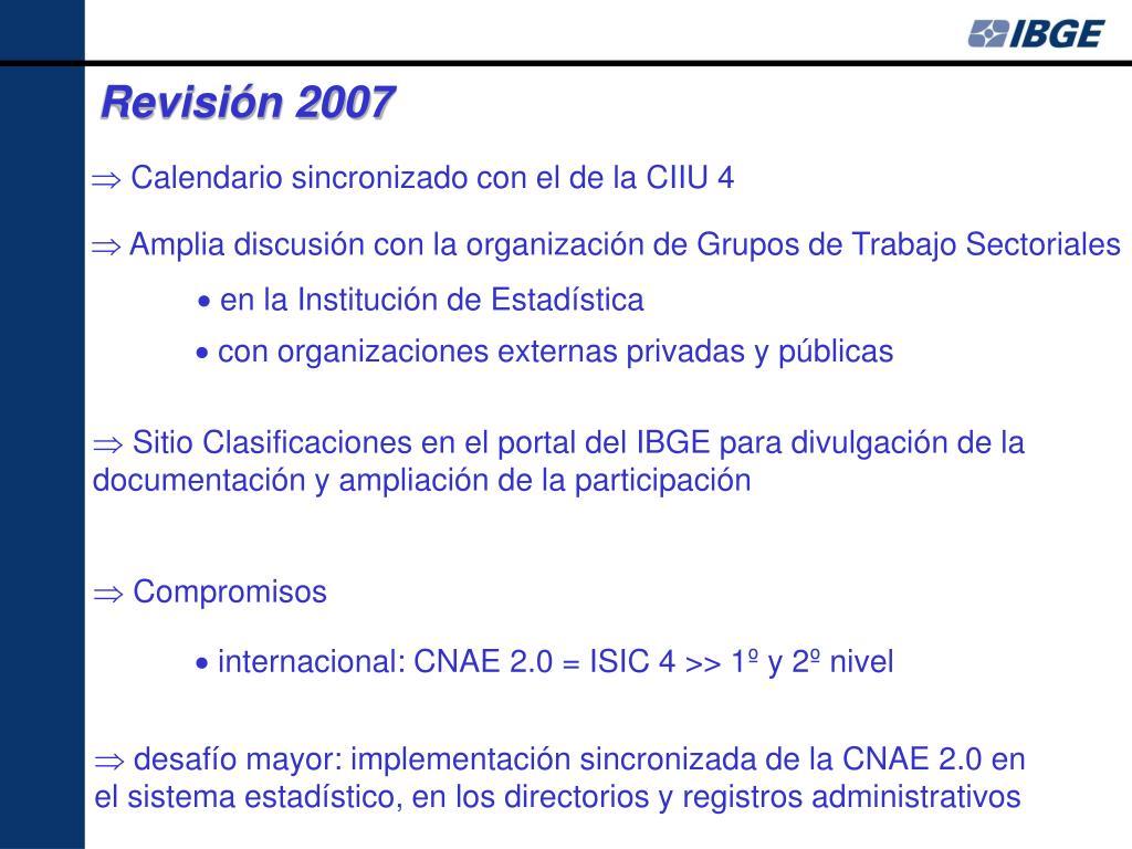 Revisión 2007