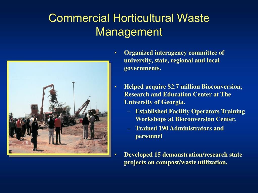 Commercial Horticultural Waste Management