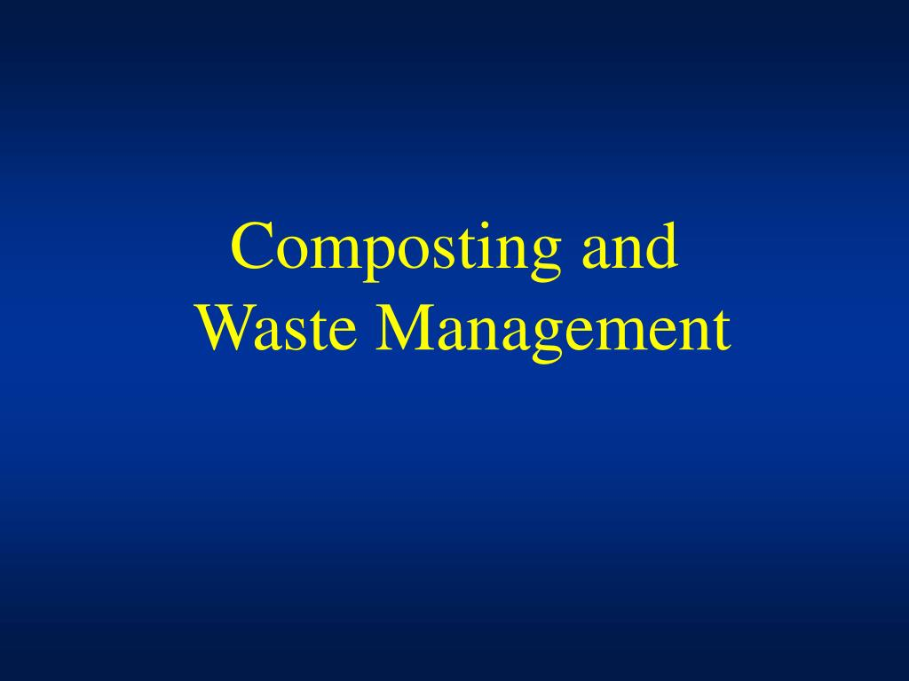Composting and