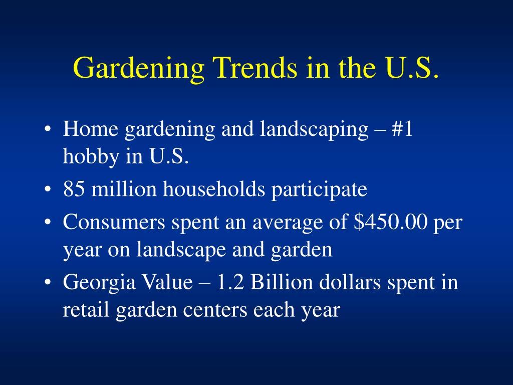 Gardening Trends in the U.S.