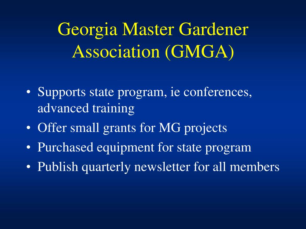 Georgia Master Gardener Association (GMGA)