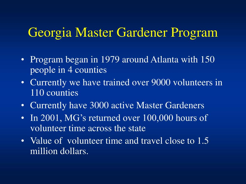 Georgia Master Gardener Program