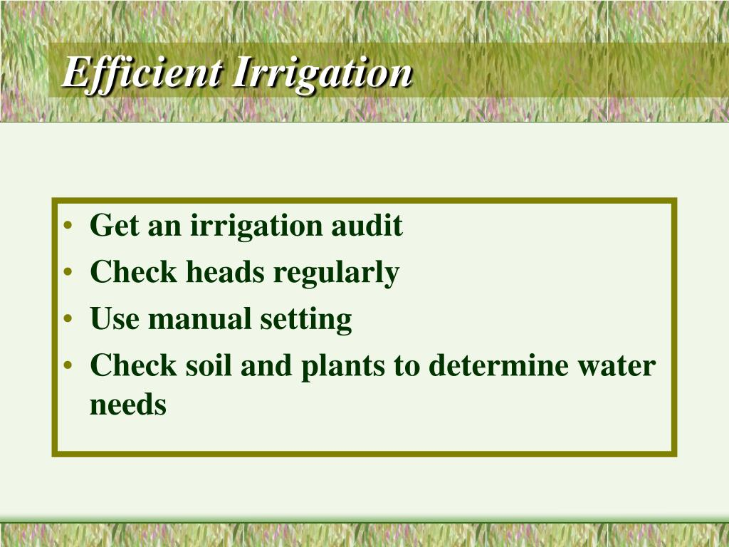 Efficient Irrigation