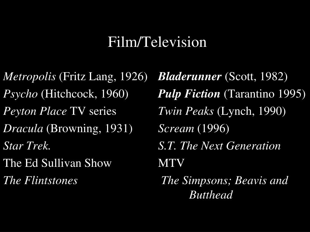 Film/Television