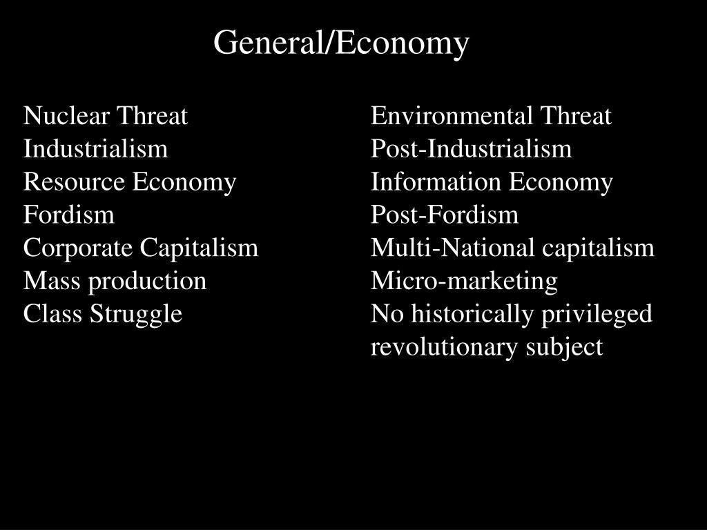 General/Economy