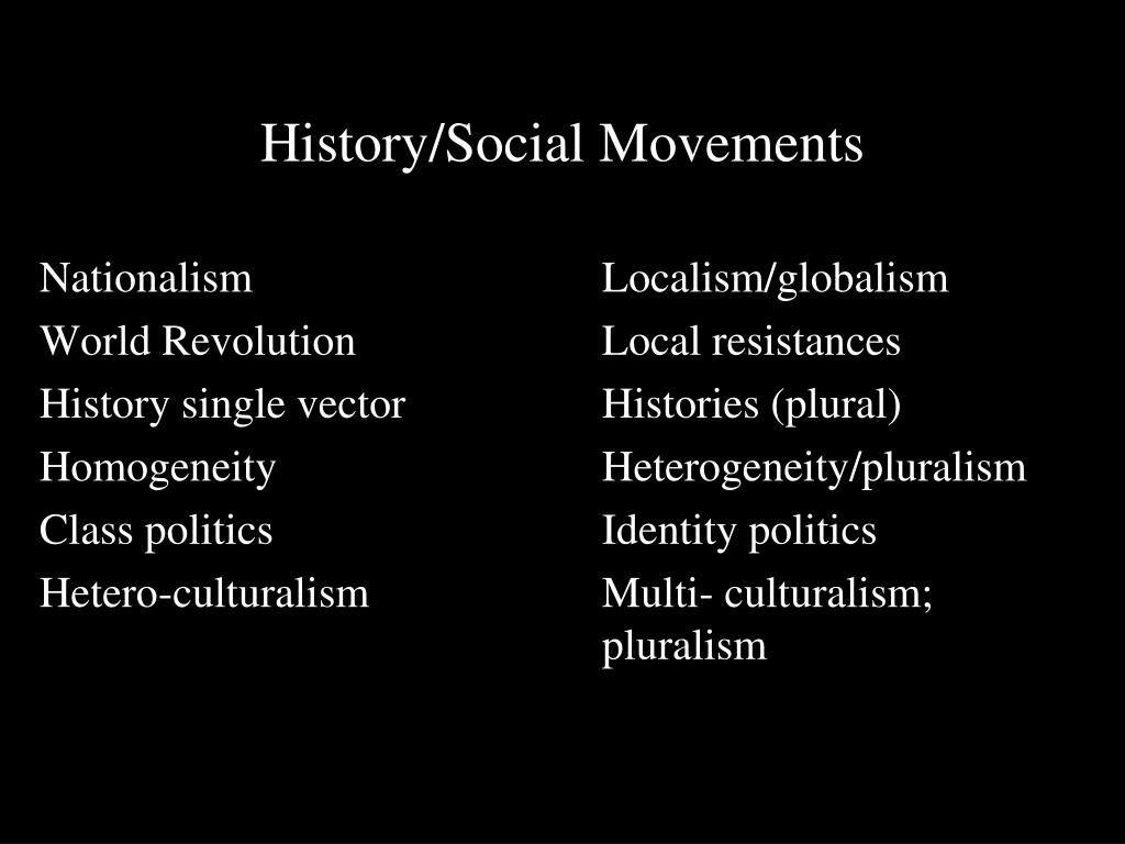 History/Social Movements