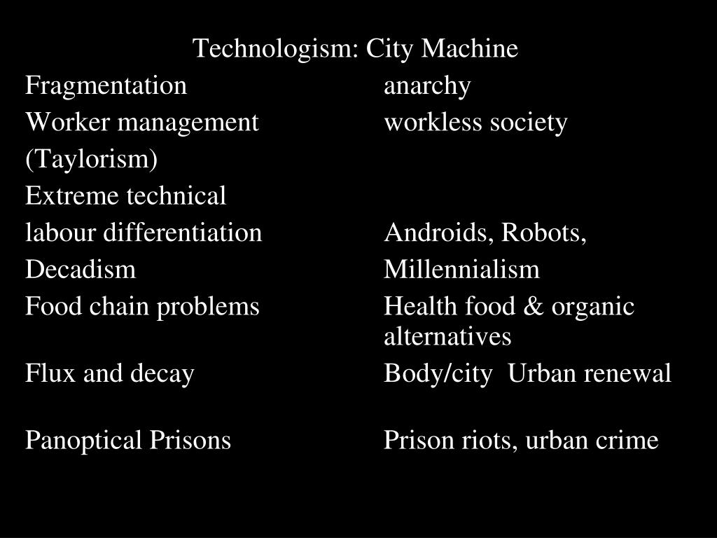 Technologism: City Machine