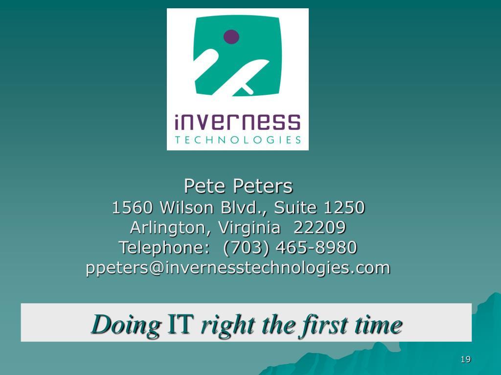 Pete Peters