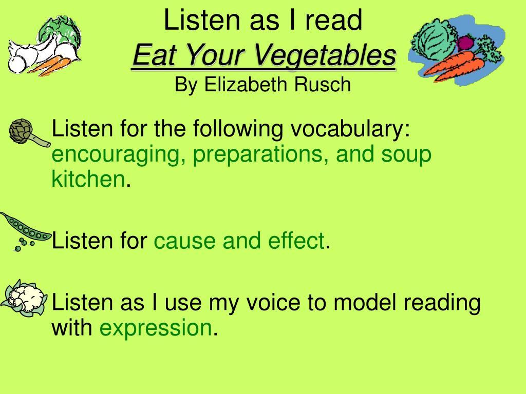 Listen as I read