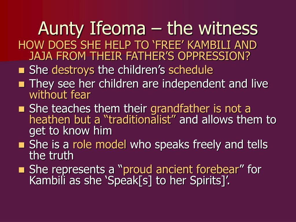 Character Aunty Ifeoma In Purple Hibiscus Essay Sample June 2019