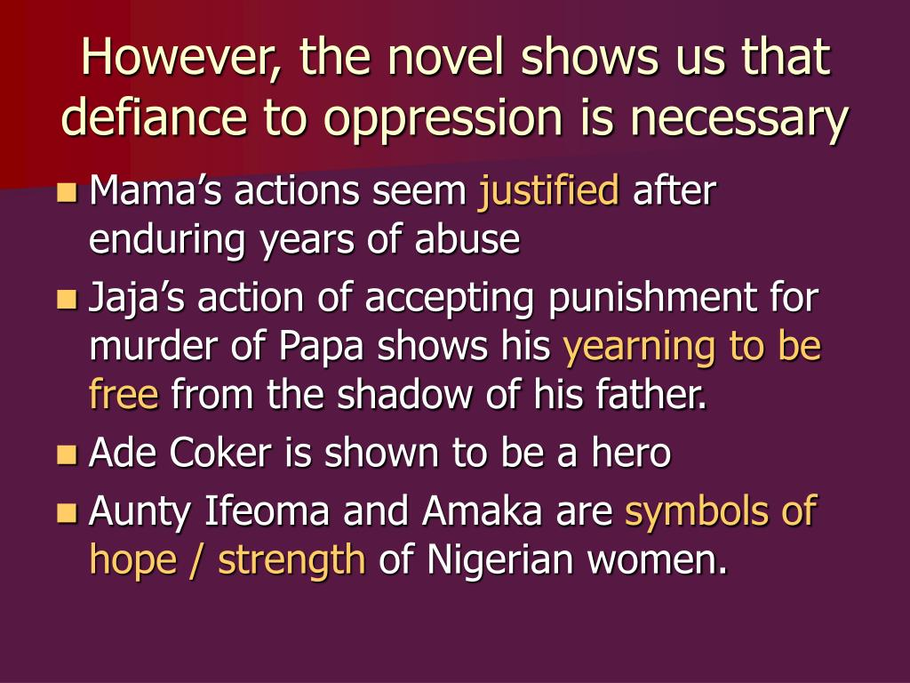 themes in purple hibiscus The paper deals with the theme of post colonial life in nigeria  imprints of post- colonialism in chimamanda ngozi adiche's purple hibiscus.