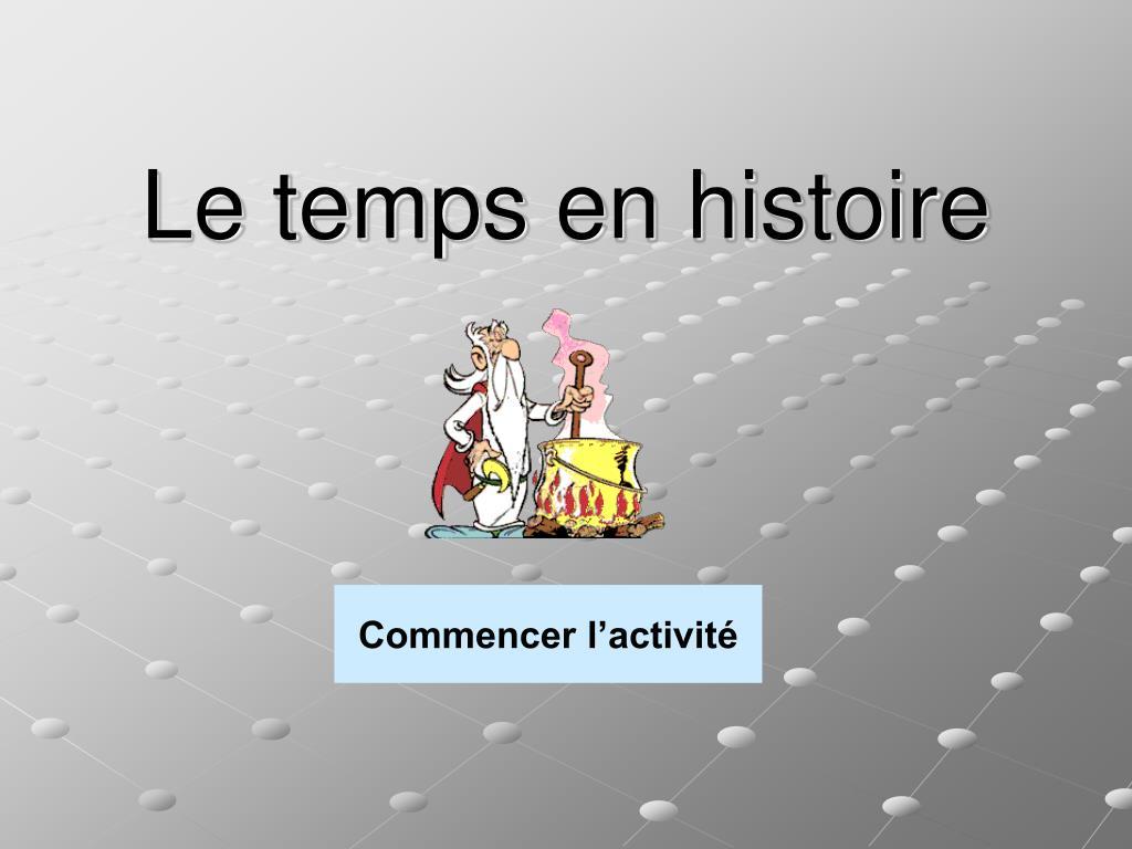 Le temps en histoire