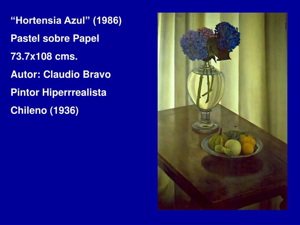 """""""Hortensia Azul"""" (1986)"""