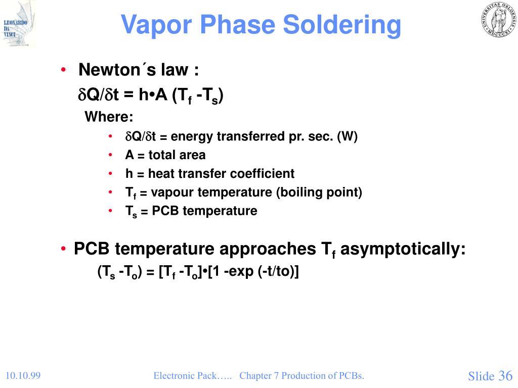 Vapor Phase Soldering