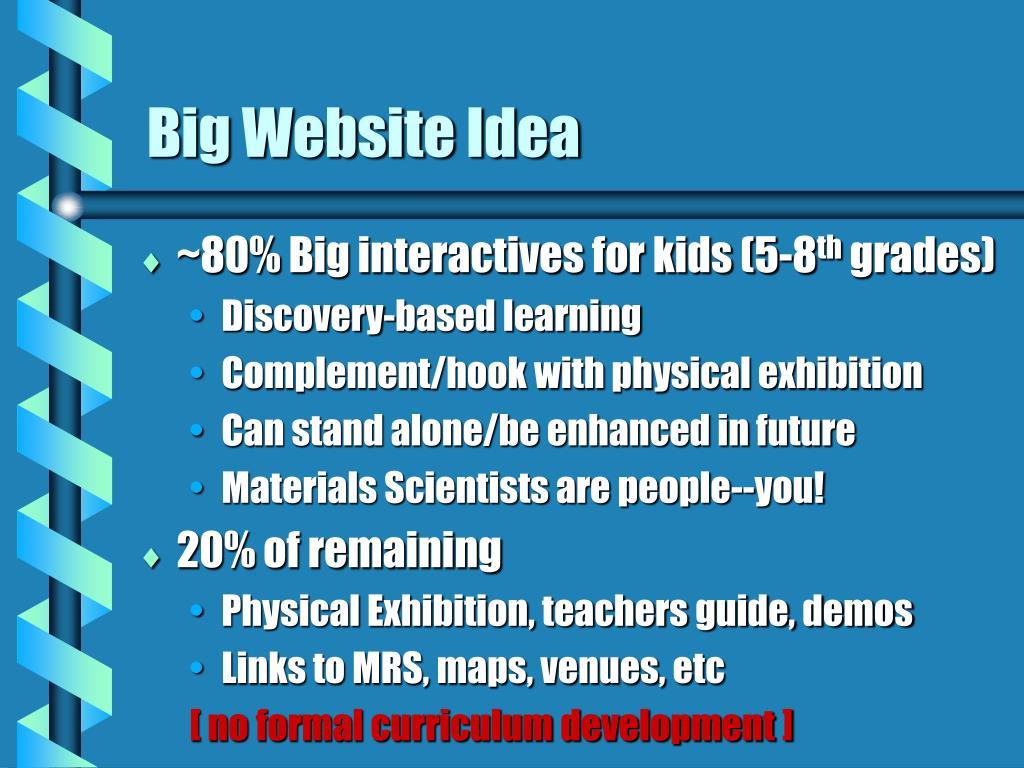 Big Website Idea