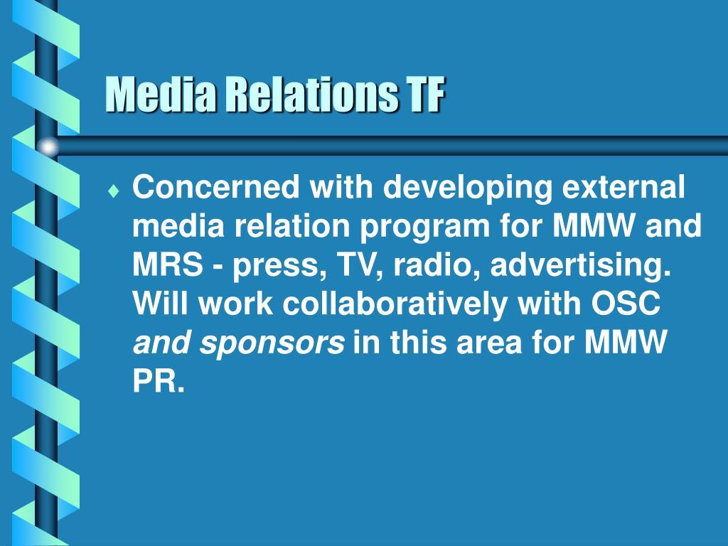 Media Relations TF