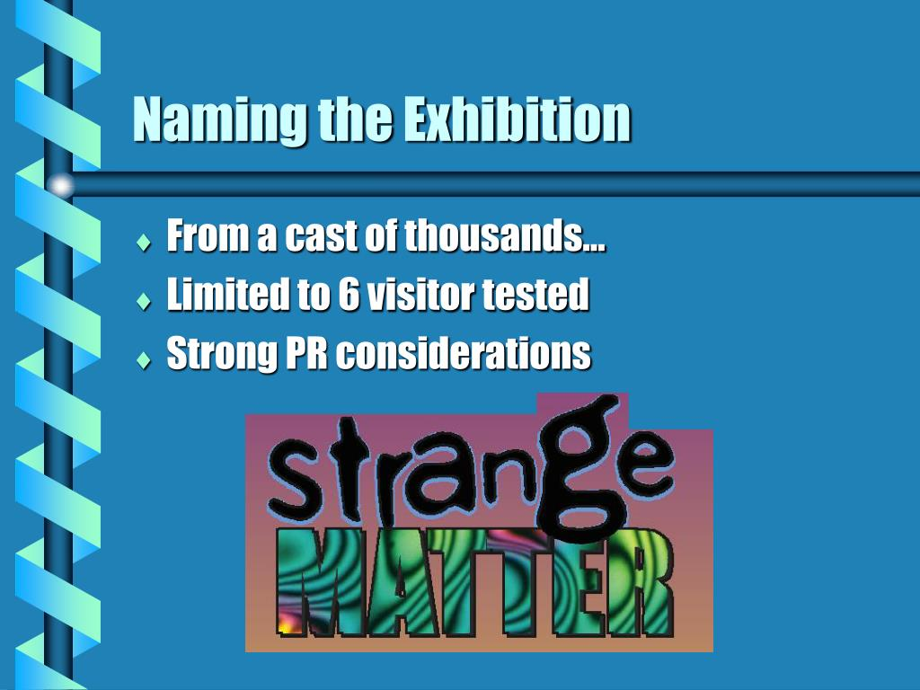 Naming the Exhibition