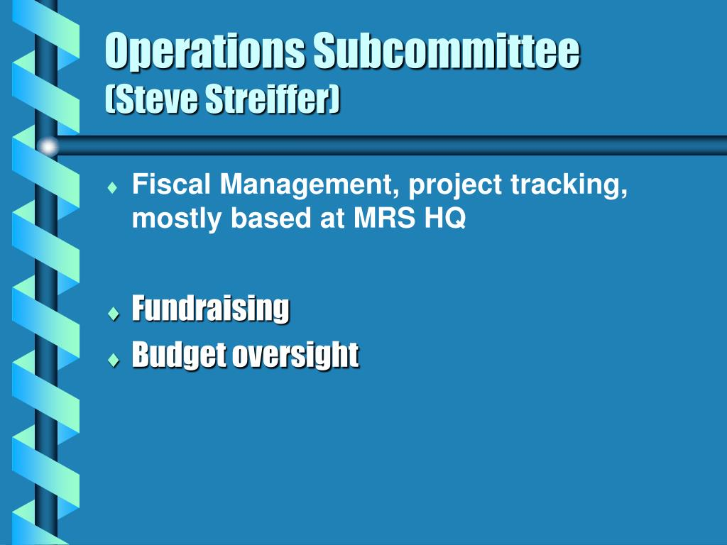 Operations Subcommittee