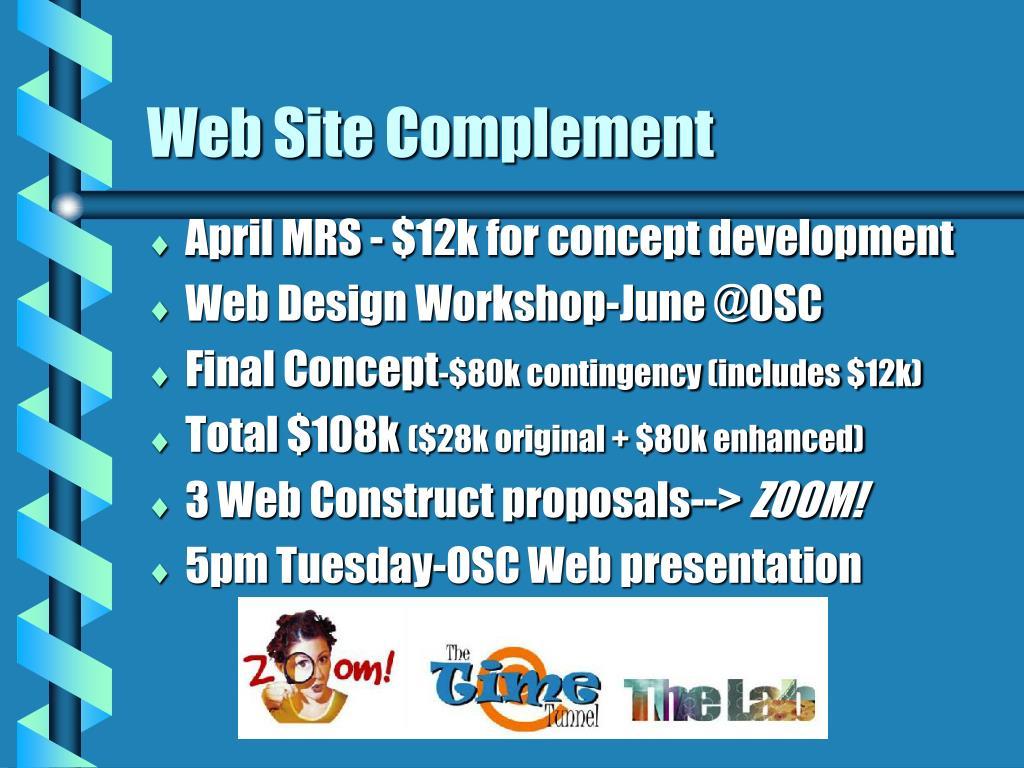Web Site Complement