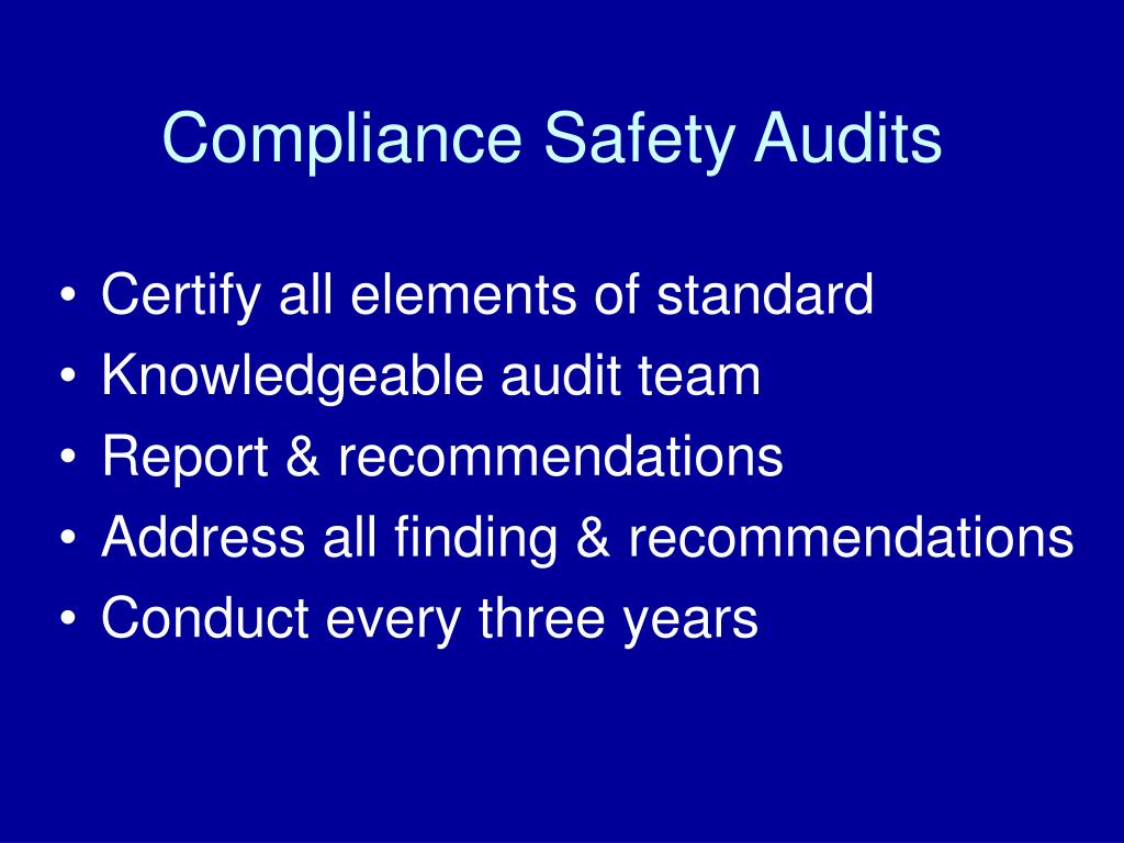 Compliance Safety Audits