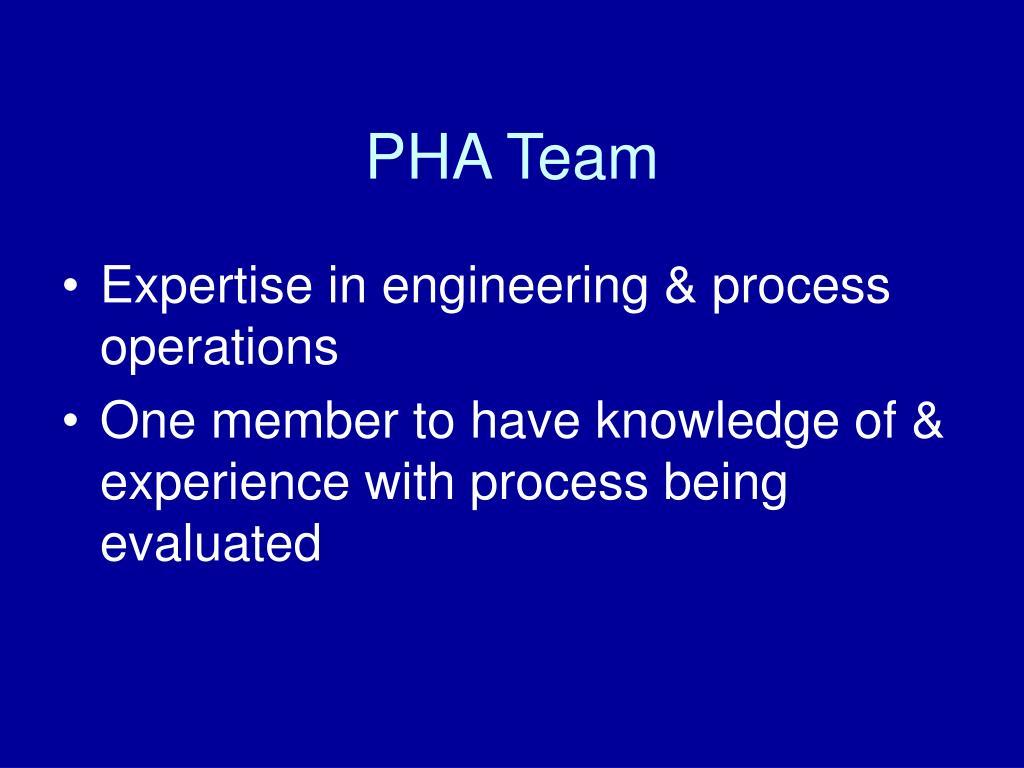 PHA Team