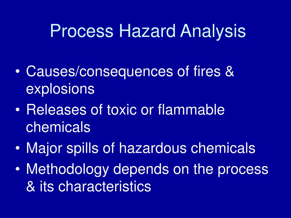 Process Hazard Analysis