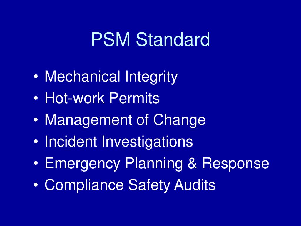 PSM Standard