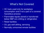 what s not covered