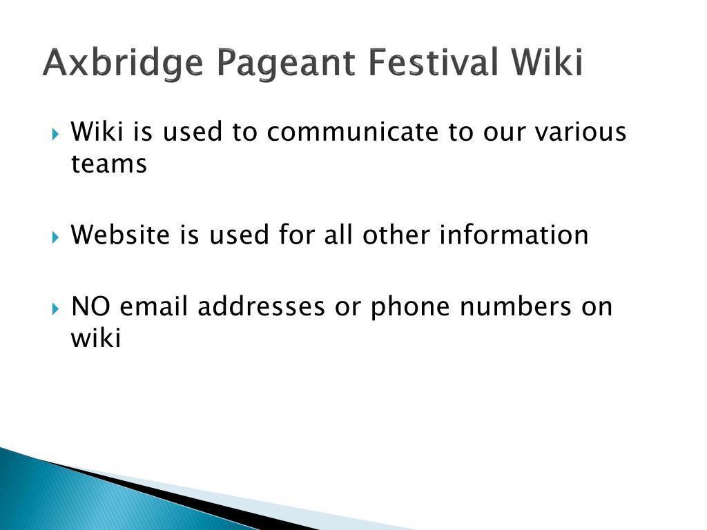Axbridge Pageant Festival Wiki