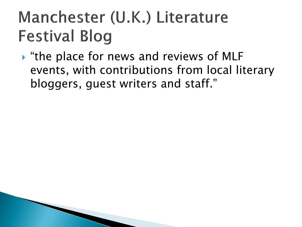 Manchester (U.K.) Literature Festival Blog