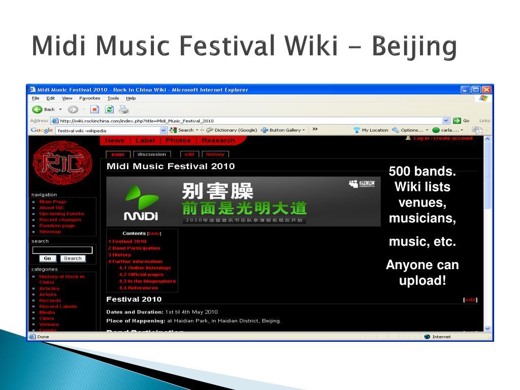 Midi Music Festival Wiki - Beijing