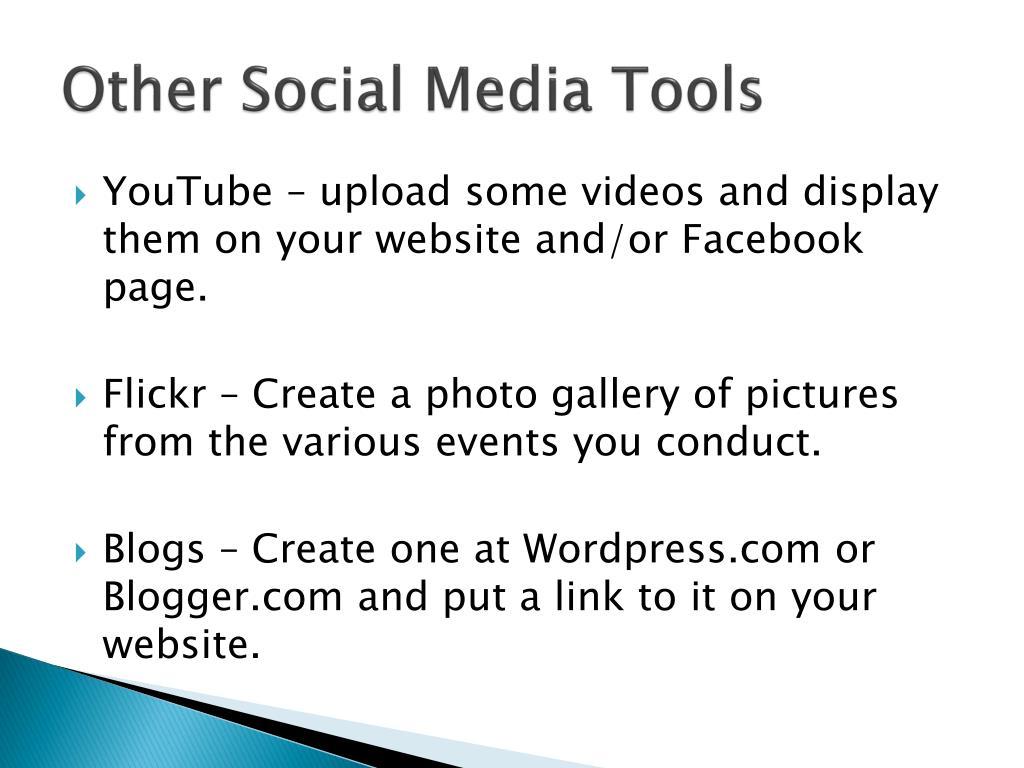 Other Social Media Tools