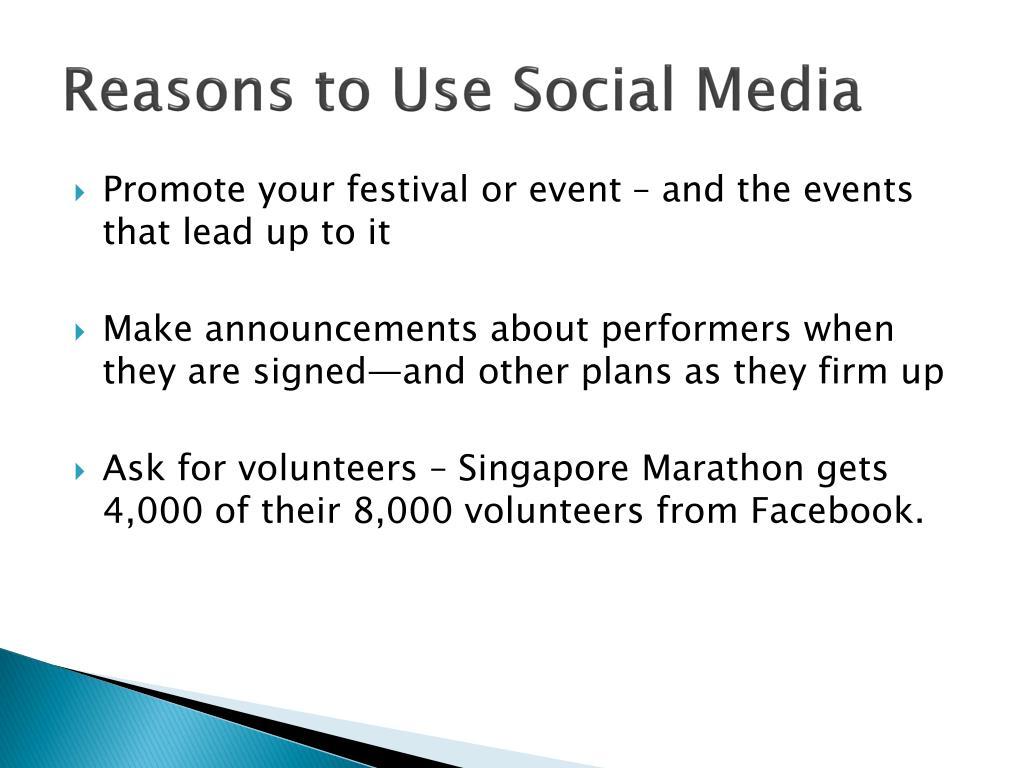 Reasons to Use Social Media