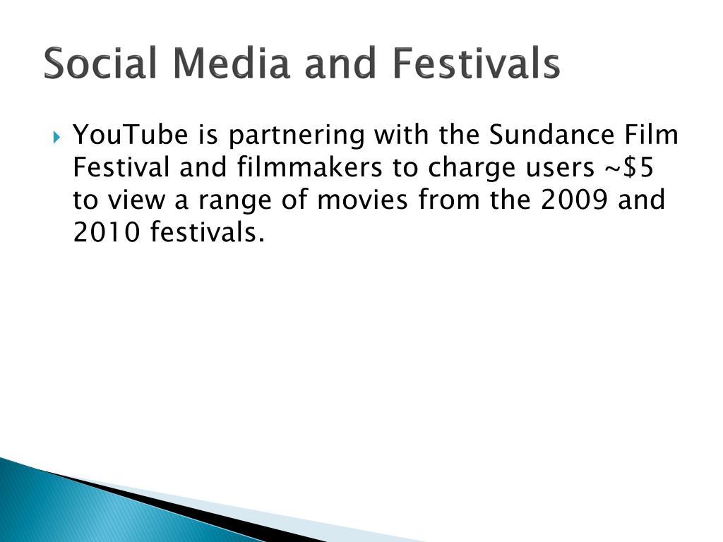 Social Media and Festivals