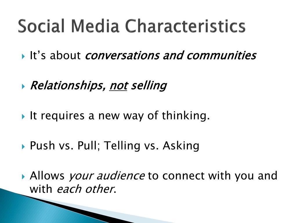 Social Media Characteristics