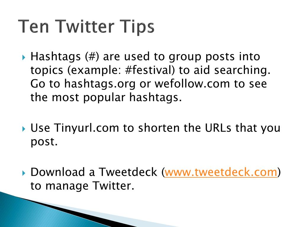 Ten Twitter Tips