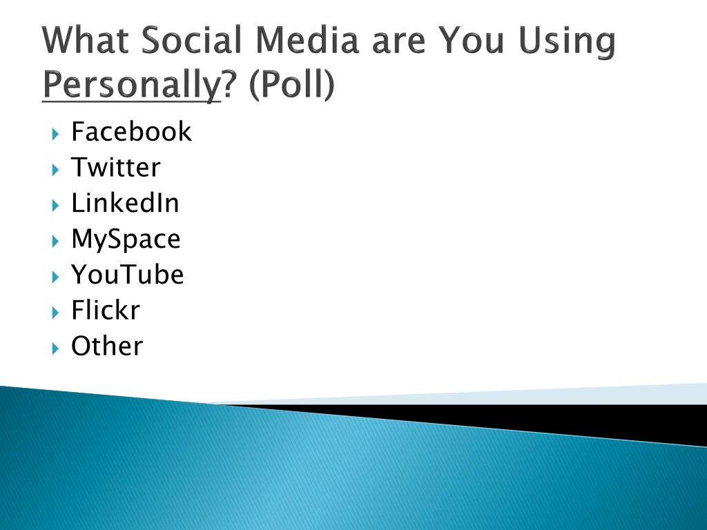 What Social Media are You Using