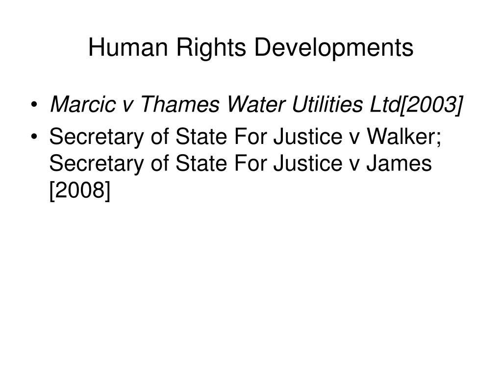 Human Rights Developments