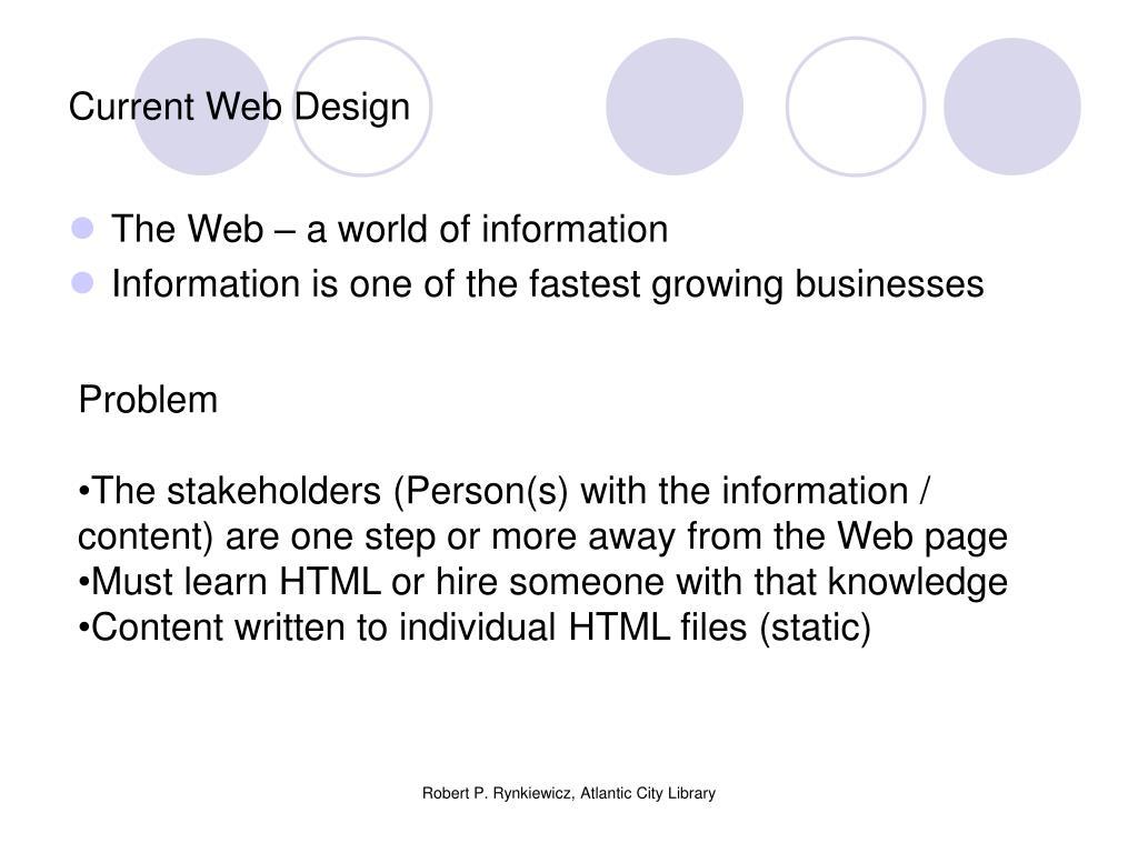 Current Web Design