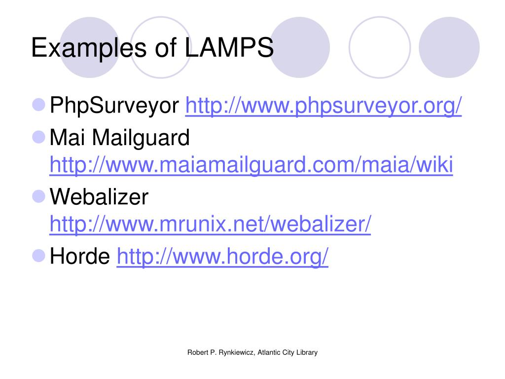 Examples of LAMPS