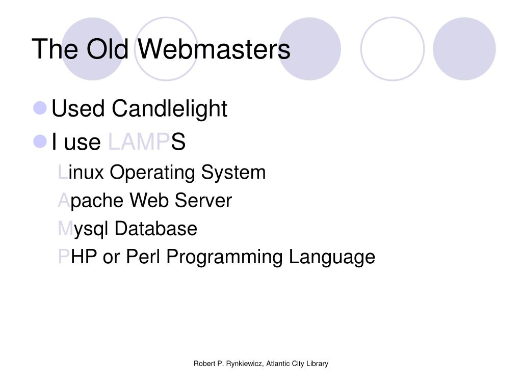 The Old Webmasters